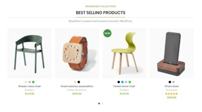 Products carousel + title