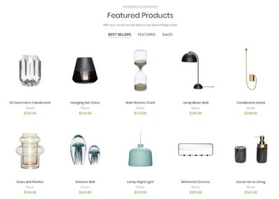 Products 5 columns