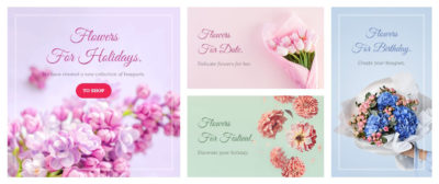 Flowers banners grid